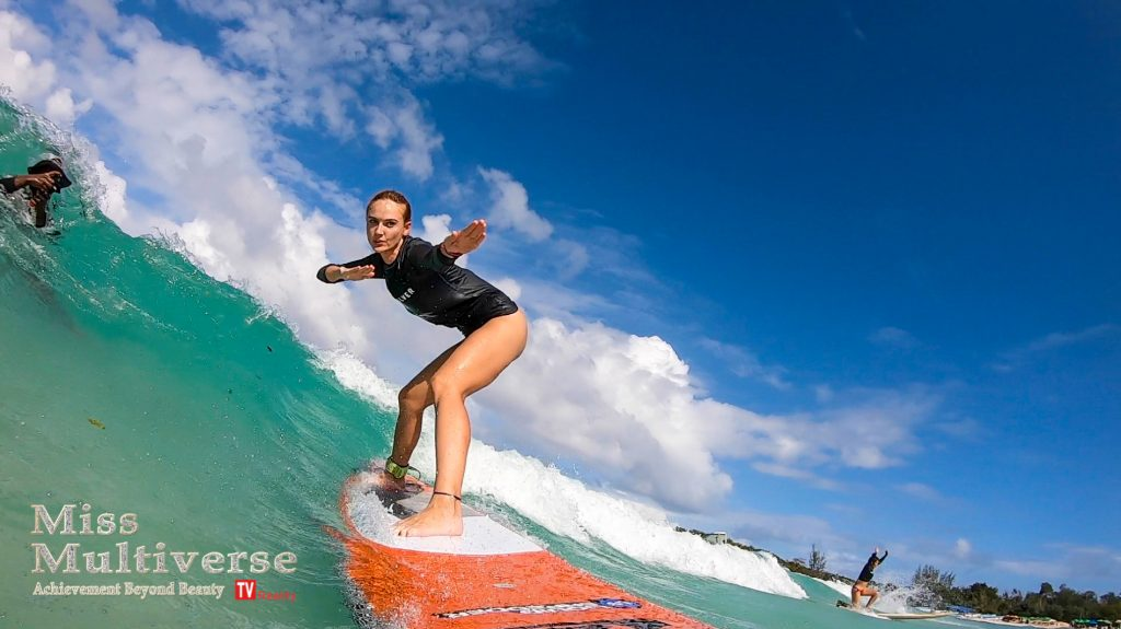 Miss Multiverse Macao Beach Surf Camp