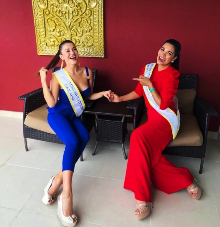 Miss Multiverse Ukraine with Miss Peru 2019 1 - Beauty Pageant or Survival Game? Alyona Smirnova Winner of Miss Multiverse.