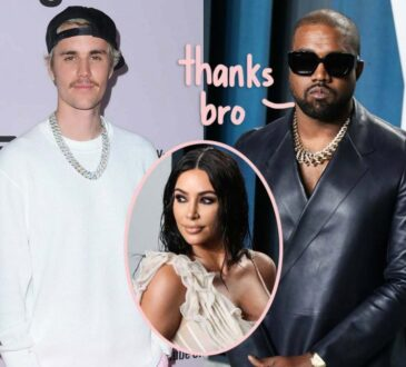 Kanye West captured a photo of Justin Bieber and Damon Dash during their visit on his Wyoming ranch.