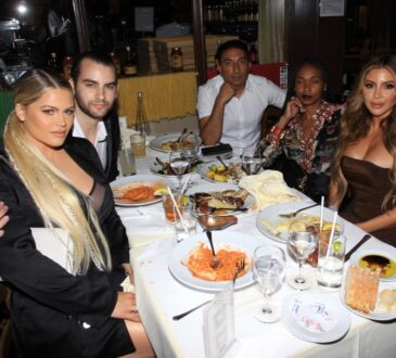 The Moscatels and Larsa Pippen stepped out for dinner in Beverly Hills this week!