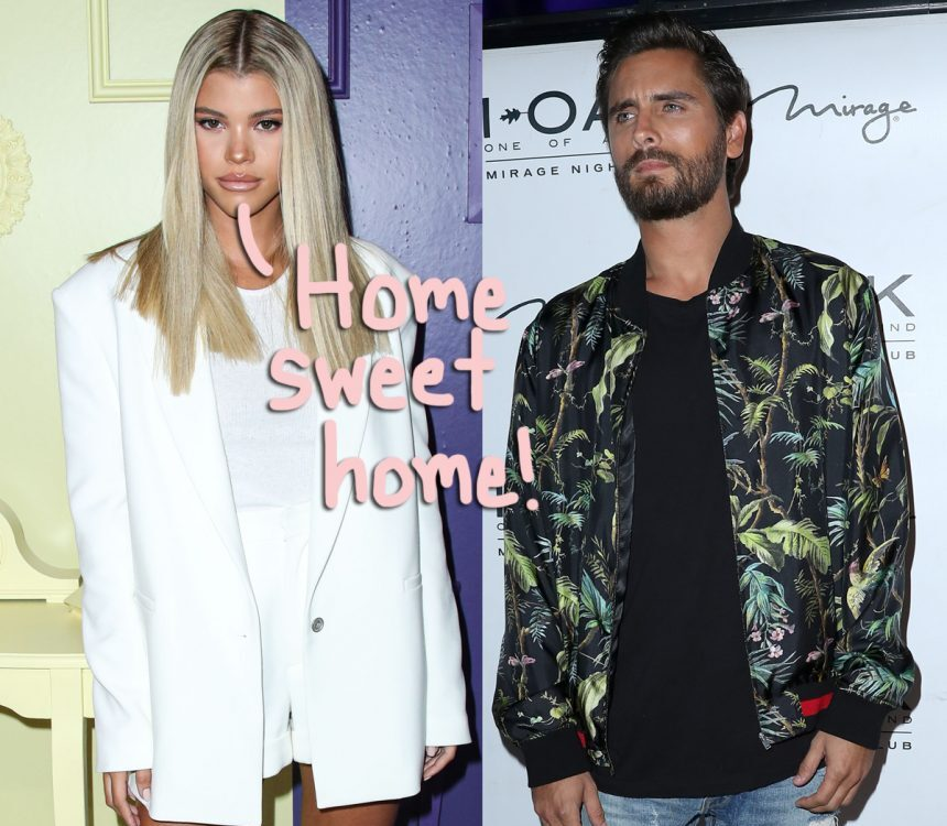 Sofia Richie snapped a pic at Scott Disick